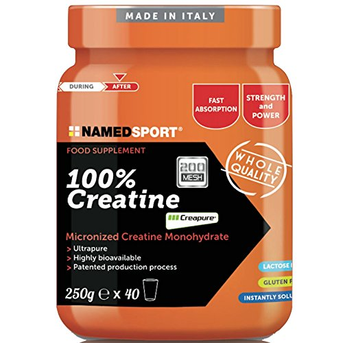 100% creatina - named - integratore alimentare a base di creatina monoidrato micronizzata (formato: 250 g in polvere)