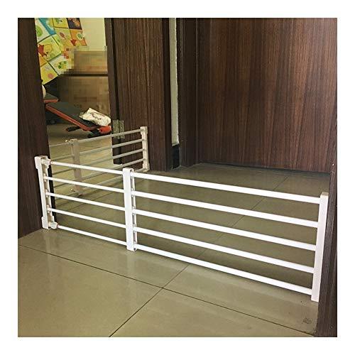 AGLZWY Hundebarrieren Lagerregal Einstellbar Haustier-Zaun Balkon Isolationstür Erweiterbar Küchen Flur, 6 Größen (Color : White, Size : 57-85x24cm)
