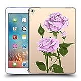 Head Case Designs Pfund Silber Rosen Und Wildblumen Soft Gel Hülle für iPad Pro 9.7 (2016)