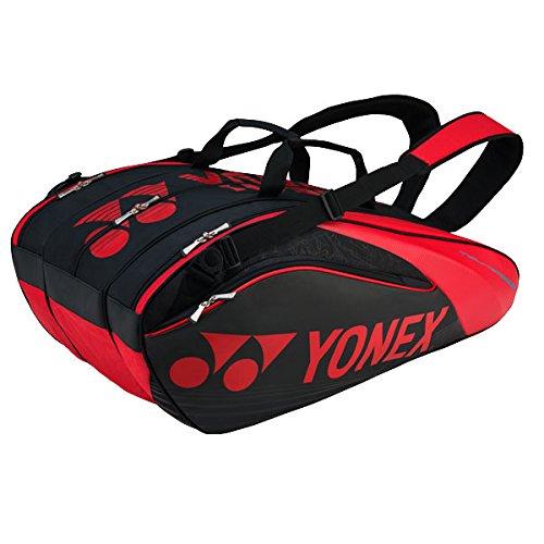 Yonex Pro Racket Thermobag 9er Schlägertasche, Schwarz, 68 x 40 x 20 cm