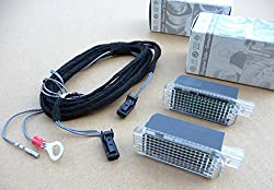 LED Fußraumbeleuchtung Kabel SET vorn Golf 4 5 6 Passat 3C R36 Touran Tiguan Sharan Caddy Touran