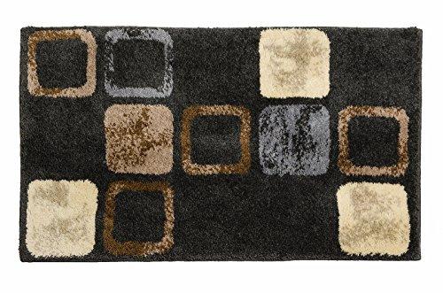 SCHÖNER WOHNEN-Kollektion, Mauritius, Badteppich, Badematte, Badvorleger, Design Box - braun, Oeko-Tex 100 zertifiziert, 60 x 100 cm