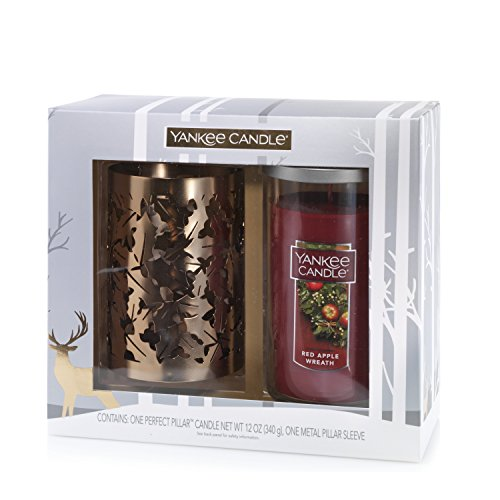 Yankee Candle Kerze und Sleeve Set, Red Apple Wreath (Red Apple Wreath Candle Yankee)