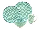 CreaTable 19644 Serie Mediterran petrol, Single Set 4 teilig