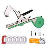 Agriculture Plant Tying Tool, Tapener Tape Tool Hand Tying Machine for Flower Fruit Vegetable with Free 6 *Tapes & 1 *Staples