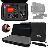 DURAGADGET Custodia Personalizzabile per Garmin VIRB Ultra 30 | Virb XE/X Action Camera - con Tracolla + Maniglia