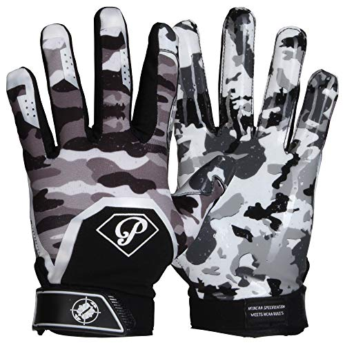 Prostyle Tactical American Football Receiver Handschuhe - weiß Gr. S
