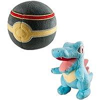 Pokémon Peluche/Doudou/Peluche karnimani/Totodile/Kaiminus avec balle de luxe au Show Carton