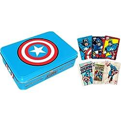 Aquarius Capitán América juego de cartas lata