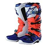 Alpinestars Tech 7Tld boots-flo rojo/Blue-9