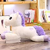 CGDZ Riesen Einhorn Plüschtiere Nettes Rosa Weißes Pferd Weiche Puppe Kuscheltier Großes Spielzeug Für Kinder Geburtstagsgeschenk Weiß 80 cm