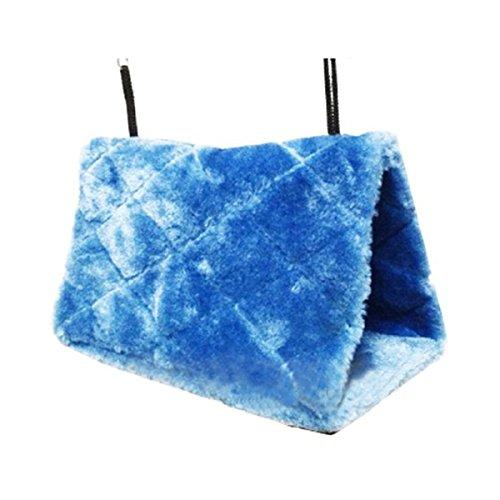 PIXNOR aves Animal peluche acurrucarse hamaca colgante acurrucarse cueva choza feliz Hideaway - tamaño S (azul)