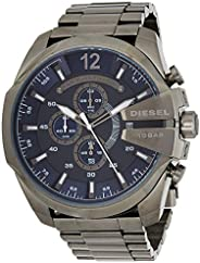 Diesel Mens Quartz Watch, Analog Display and Stainless Steel Strap, DZ4329
