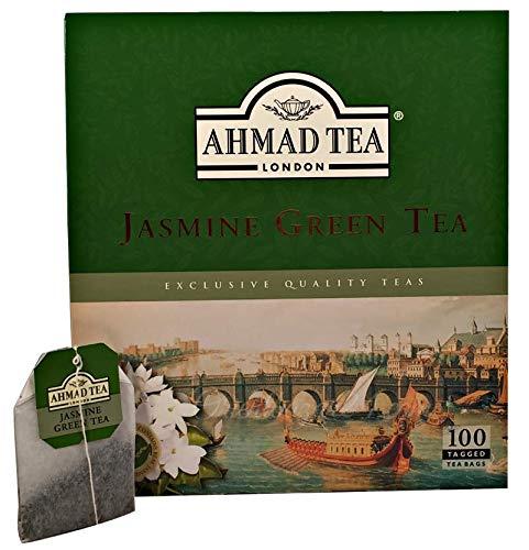 Ahmad Tea- Jasmine Green Tea 100 St. Grüner-Tee-Beutel á 2 Gramm mit Band