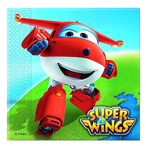 Generique - 20 Serviettes en Papier Super Wings 33 x 33 cm