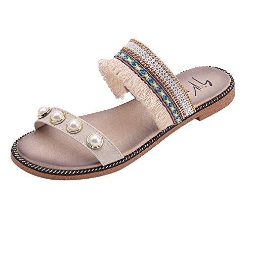 Vendita calda!,pantofole donna estive styledresser elegant ciabatte donna estive da casa mare sandali estivi donna elegant tacco bassi estivi - moda estate tacco sandali pantofola scarpe casual