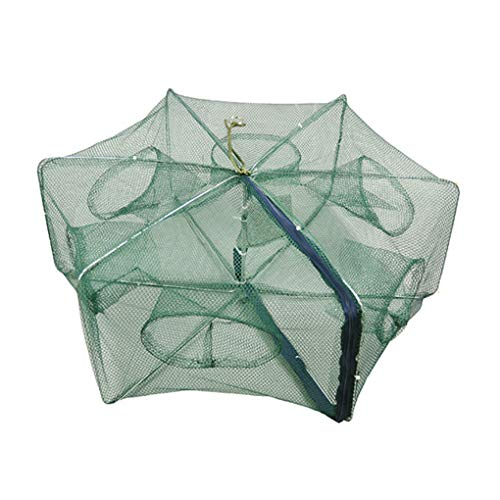Zerama Gefaltete Tragbarer Polygon Fischnetz Nylon Faltbare Crayfish Shrimp Catcher Crab Fish Trap Cages -