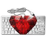 amazend Gruß American USA Soldier zu USA Flagge 12743627378Schlüssel Ultra Dünn Mechanical Gaming Upgrade Tastatur, Beautiful Realistic Red Heart Shaped Ruby Gemstone On A Light Background 363010166