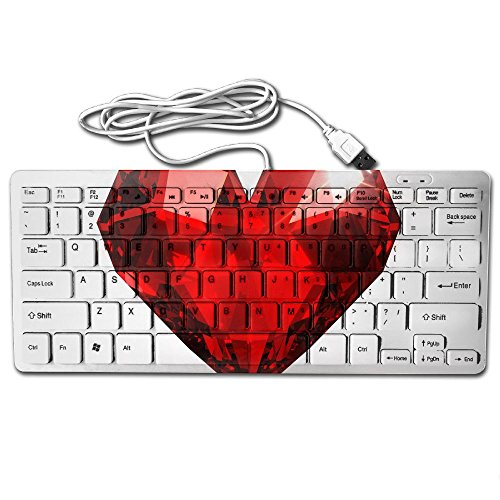 amazend Gruß American USA Soldier zu USA Flagge 127436273 78 Schlüssel Ultra Dünn Mechanical Gaming Upgrade Tastatur, Beautiful Realistic Red Heart Shaped Ruby Gemstone On A Light Background 363010166 Macally Wireless Keyboard
