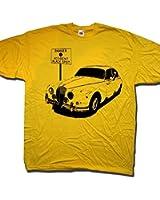 Jaguar MK2 Accident Black Spot Scrubbers! T Shirt by Old Skool Hooligans