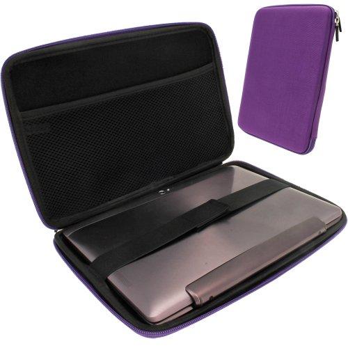 igadgitz Lila EVA Hart Tasche Case Hülle für Verschiedene Asus 10.1
