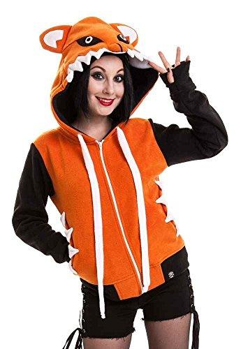Cupcake Cult - Foxy Hoodie Fleece-Jacke, gelb, Grösse M Cupcake-hoodie