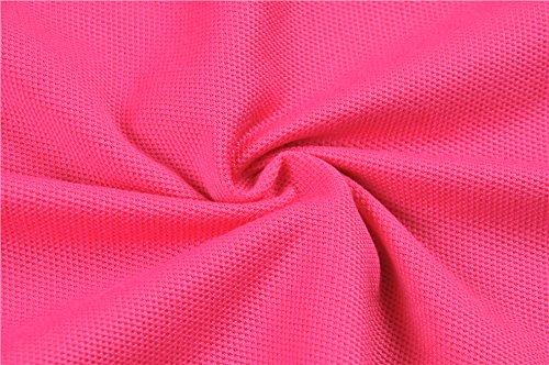 Polo da donna, Mttroli polo da donna, maglietta sportiva tops badminton Polos confezione da 2 Hot Pink ( Pack Of 2 )