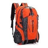 Saienfeng Senderismo mochila grande ligero bolsa de 40l impermeable para Camping ciclismo running deportes al aire libre (Naranja)