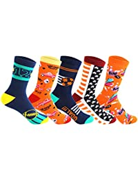 Supersox Kid's Regular Length Pack of 5 Combed Cotton Socks