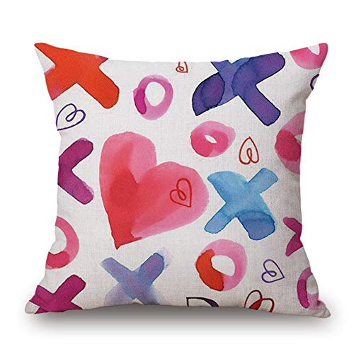 appy Valentine's Day Throw Pillow Case Sweet Love Square Cushion Cover 18