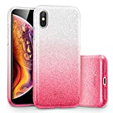 ESR Coque pour iPhone Xs Max Rose, Coque Silicone Paillette Strass Brillante Bling...