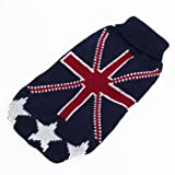 Rollkragen Pullover Hund Kleidung W / Uk Flagge Muster - Größe XXXS