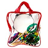 StillCool Juguetes de Instrumentos Musicales para Niños 16 piezas Conjunto de percusión de madera con bolsa de almacenamiento Rhythm & Music Juguetes de educación preescolar