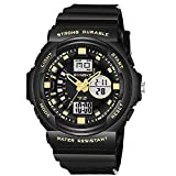YEARNLY Jungen Uhren Mädchen Uhren Kinder Armbanduhr Jungen Digital Analog Wasserdicht Sports Uhren für Jungen und Mädchen Digital Uhr Sports Uhren