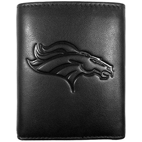 Siskiyou Sport Denver Broncos geprägt Geldbörse Leder, Schwarz, Tri-Fold