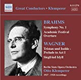 Brahms : Symphonie N°1 - Wagner : Tritan & Iseult : Prélude Acte 1
