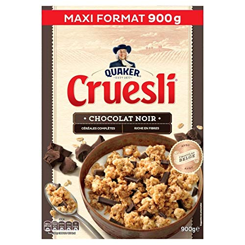 Quaker - Cruesli Chocolat Noir Maxi Format 900G - Lot De 3 - Livraison Rapide en France - Prix Par Lot