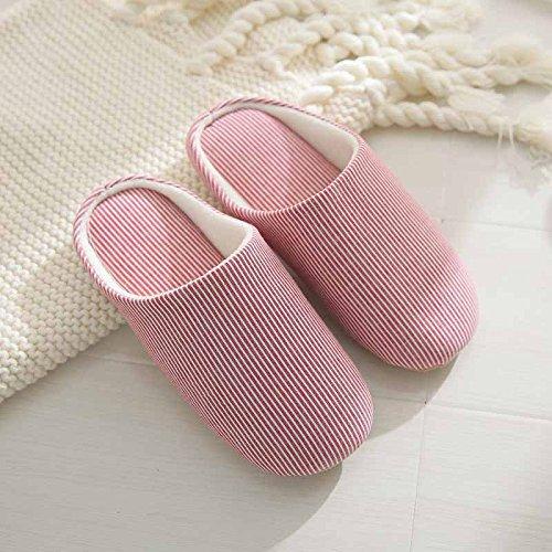 DogHaccd pantofole,Pavimento in giapponese pantofole di cotone femmina gli amanti di inverno autunno piscina antiscivolo e tranquillo soggiorno in una casa calda pantofole Il rosso1
