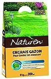 NATUREN Engrais Gazon Anti Mousse Organique 200m² 8kg