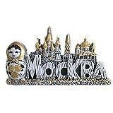 Weekinglo Souvenir Imán de Nevera Matrioshka Moscú Rusia Resina 3D Artesanía Hecha A Mano Turista Viaje Ciudad Recuerdo Carta Carta Refrigerador