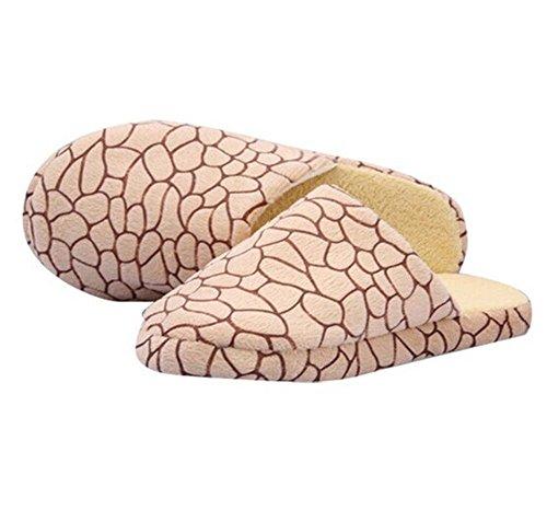 Minetom D'hiver Slippers Doux Chaud Chaussons Pantoufles En Velours Corail Confortables Légers Adulte Unisexe Pour Maison Bureau EUROPE Taille Jaune