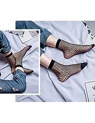 2 paires de chaussettes courtes en mailles noires