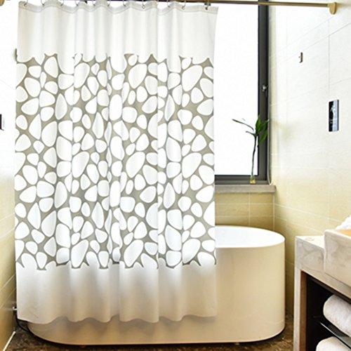 Geometrischer duschvorhänge, Extra lange duschvorhänge Wasserdicht und mehltau Vorhang zu decken Warme Isolierung Duschvorhänge für badezimmer-Weiß 120x200cm(47x79inch)