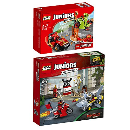 Preisvergleich Produktbild Lego Juniors 2er Set 10739 10722 Haiangriff + Schlangenduell
