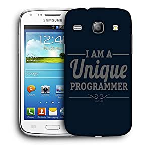 Snoogg I Am A Unique Programmer Designer Protective Back Case Cover For Samsung Galaxy Core