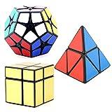 HJXDtech- 3 más nuevos irregular Cubo Mágico 2x2x2 establecer popular de Megaminx + Pyraminx + Espejo velocidad Puzzle Cubo