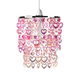 MiniSun - Hermosa pantalla para lámpara de techo 'Cheltenham' - con corazones brillantes