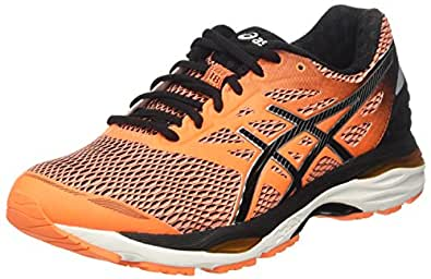 Asics Gel-Cumulus 18, Scarpe da Corsa Uomo, Arancione (Hot Orange/Black/White), 39.5 EU