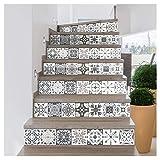 Ambiance-Live col-stairs-RV-A0106_30x105cm Stickers carrelages escaliers, Vinyle, Romolo, 2 Bandes de 15 x 105 cm