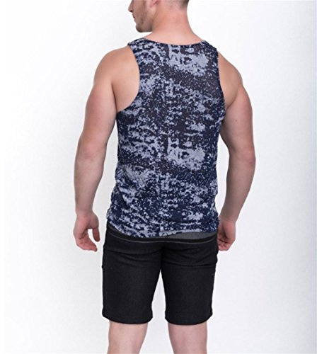 MZ Bodybuilding Herren Weste Mode Druck Formung Weste m